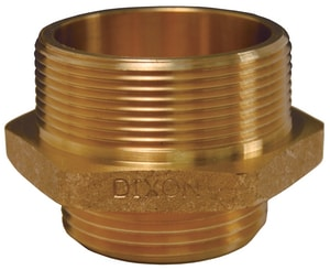 Dixon Valve & Coupling 2-1/2 in. MNPT x MNST Brass Double Hex Nipple DDMH2