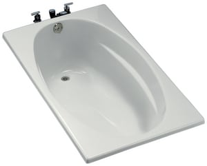 Kohler Proflex® 18-1/8 x 60 x 36 in. 57 gal Drop-In Alcove Bathtub with Right Hand Drain K1142