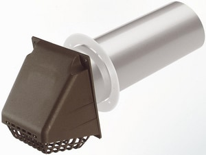 Deflecto Fresh Air Intake Vent in Brown DERVMAB4