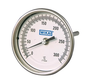 Wika Instrument Up to 550F Bimetal Thermometer W33025D26G4