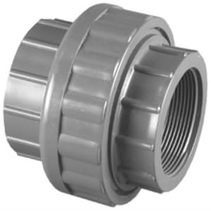 Schedule 80 FNPT PVC Threaded Union P80TUV