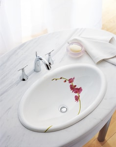 Kohler Vintage® Oval Drop-In Bathroom Sink in Soliloquy K14272-LY-0