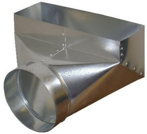 Snappy Round to Rectangular 30 ga 90° Perimeter Duct Register Boot SNAP13608