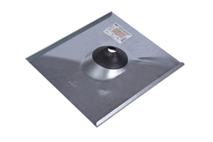 Oatey 17 x 1/2 - 3 in. Galvanized Bent Edge Flashing O11962