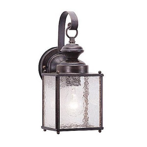 Seagull Lighting Jamestowne 5-1/2 in. 100 W 1-Light Medium Lantern in Textured Rust Patina S888108