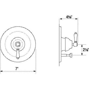 Rohl Country Bath Pressure Balance Mixer RA2400LP