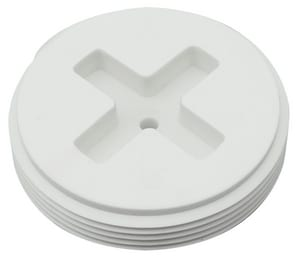 Sioux Chief White Plastic PVC Cleanout Plug S878015