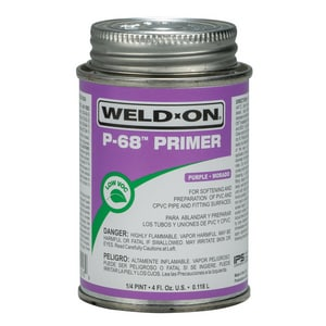 Weld-On 1/4 pt PVC Primer Cleaner in Purple I10216
