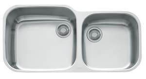 Franke Consumer Products EuroPro 39 x 19 in. 2-Bowl Undercounter Kitchen Sink FGNX120
