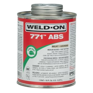 Weld-On ABS Medium Body Cement in Milky Clear I1023