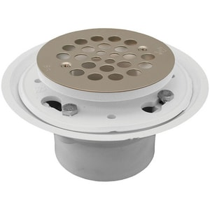 Jones Stephens 2 in. No-Caulk Shower Drain with Strainer Stainless Steel JD50500