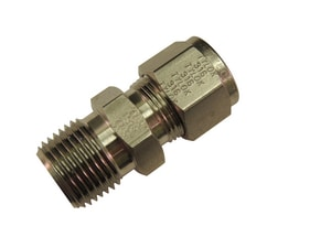 Tylok OD Tube x MPT Stainless Steel Compression Connector TSSDMC