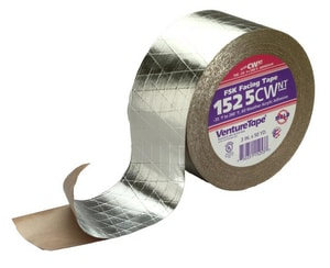 Venture Tape 4 in. FSK Silver Facing Tape V1525CWPSI