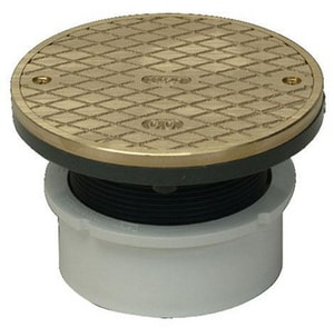 4 in. Adjustable Clean-Out with Brass Cover and Ring PF42927