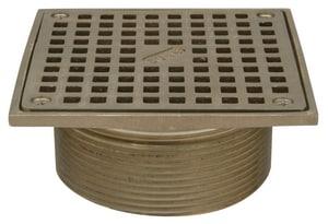 Zurn Industries 6-2/5 in. Square Strainer Top Bronze ZZB4006S