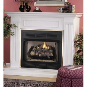 Innovative Hearth Products 36 in. Vent Free Louvered Face Fireplace with Refractory Brick Internal Liner IVCT3036B