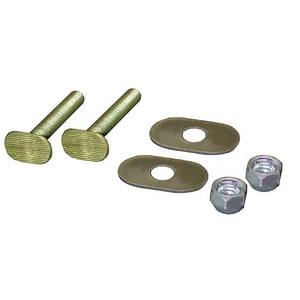 Jones Stephens 5/16 in. Brass Closet Bolt Nut & Washer JC02025