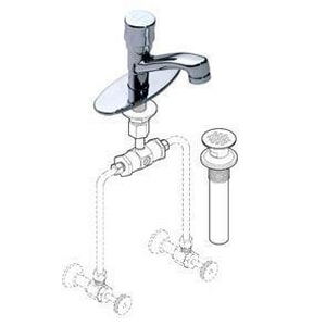 Symmons Industries 0.5 gpm Motor Lavatory Faucet Residential with Adjustable Mechanical Mixing in Polished Chrome SYMS74