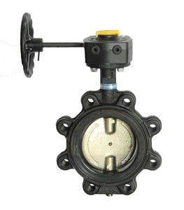 Milwaukee Valve ML Series Ductile Iron Lug Butterfly Valve with Gear Operator Handle MML333E