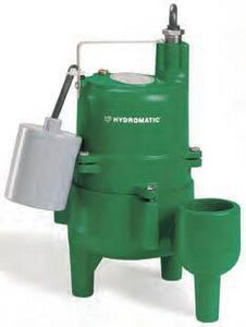 Hydromatic Pump 115 V 4/10 hp 10 ft. Cord Automatic Sewage Pump HSKV40AD110