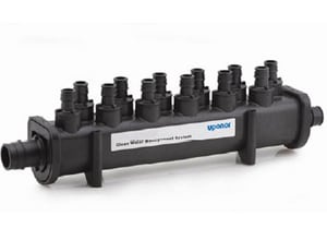 Uponor North America PEX Engineered 10-Outlet Plastic Manifold UQ2241000
