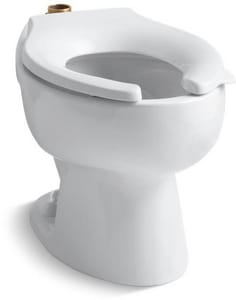 Kohler Wellcomme™ Elongated Floor Mount Toilet Bowl with Top Inlet K4350
