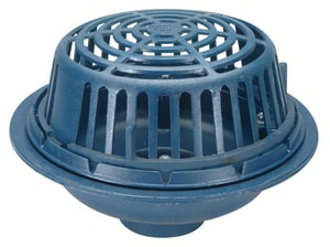 Zurn Industries 15 in. No-Hub Roof Drain with Poly Dome ZZ100NH