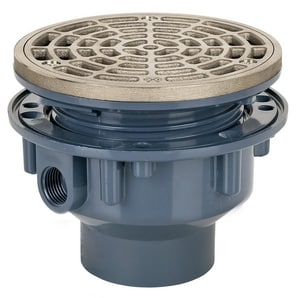 Sioux Chief 2 in. PVC Adjustable Floor Drain with Square Ring Round Strainer S8422PNQ