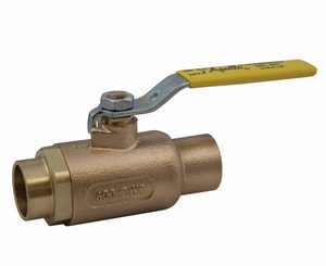 Apollo Conbraco 70-200 Series 600 psi Solder x Socket Weld 2-Piece Bronze Reduced Port Isolation Ball Valve with Lever Handle and Stem Extension A702004