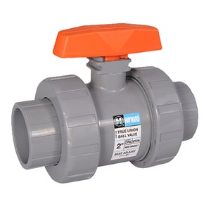 Hayward Industrial Products CPVC True Union Ball Valve with Viton Seat HTB2ST