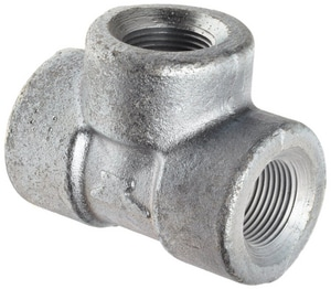 Threaded 150# Galvanized Malleable Iron Tee IGT