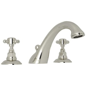 Rohl Country Bath 3-Hole Tub Filler with Double Cross Handle RA1454XM