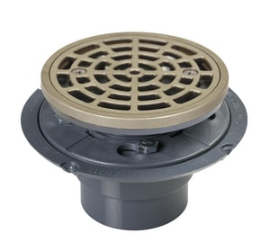 Sioux Chief Round Shower Pan Drain Cast Metal Ring and Strainer S821200PNR