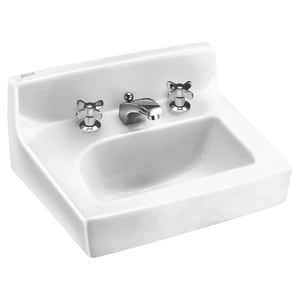 American Standard Lucerne™ 21 x 18 in. Vitreous China Lavatory 4 in. Centers A0355012020
