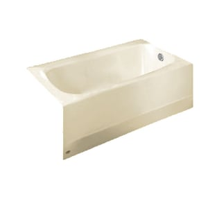 American Standard Cambridge™ 60 x 32 in. Soaking Bathtub with Right Hand Drain Outlet in Linen A2461002222