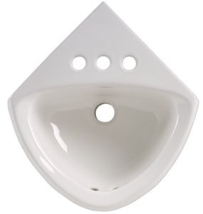 American Standard Minette™ 11 x 17 in. Vitreous China Corner Wall Mounted Sink A0451021020