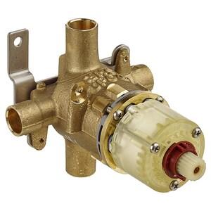 American Standard 1/2 in. Direct Sweat Pressure Balancing Temperature Control Valve in Rough Brass AR110