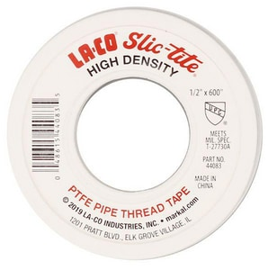 La-Co Slic-tite® 1/2 in. x 600 in. PTFE Tape L44083