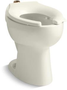 Kohler Highcrest™ Elongated Floor Mount Toilet Bowl with Top Inlet and Bedpan Lugs K4302-L