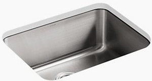 Kohler Underscore® 21 x 16 in. Undermount Sink With Clip No Hole K3325-NA