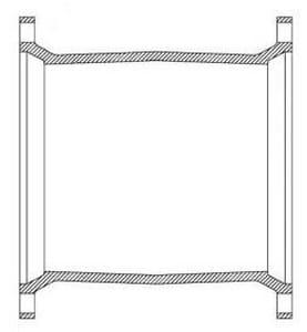 Mechanical Joint Ductile Iron C153 Solid Long Sleeve MJELSSLA