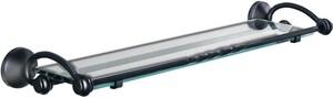 Creative Specialties International Sienna® 25 in. Glass Shelf CSIDN4990BK