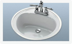 Bootz Manufacturing Daffodil Steel Drop-In Flat Lavatory Sink in White B2440WH