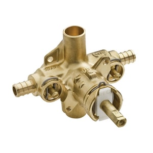 Moen 1/2 in. Rough-In Pressure Balancing Valve with Stops PEX in Polished Chrome M62360