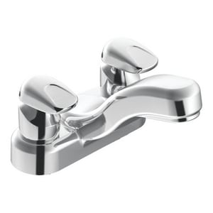 Moen M-Press Centerset Lavatory Faucet with Double Metering Handle in Polished Chrome M8886