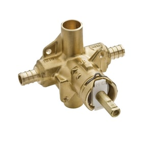Moen 1/2 in. Rough-In Pressure Balancing Valve in Polished Chrome (Less Stops PEX) M62380
