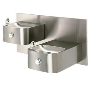 Haws Dual Hgt Double Wall Mount Drink Fountain H111914
