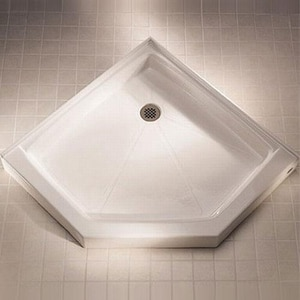 American Standard Acrylux® 38-1/8 x 38-1/16 in. Acrylic Neo-Angle Shower Base A3838NEO