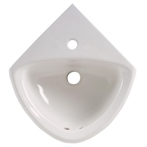 American Standard Corner Minette™ 1-Hole 1-Bowl Wall Mount Lavatory Sink in White A0451001020