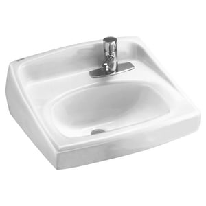 American Standard Lucerne™ 1-Hole Wall Mount Lavatory Sink A0356439